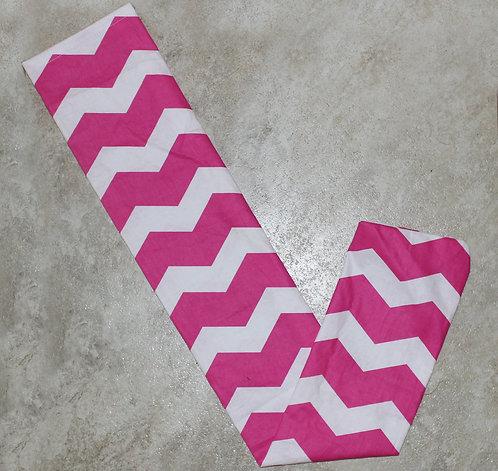 Pink Chevron Tail Bag