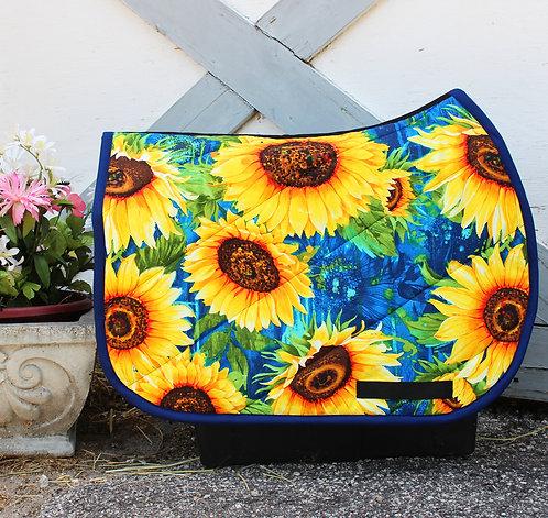 Royal Blue Sunflower Pattern Pad