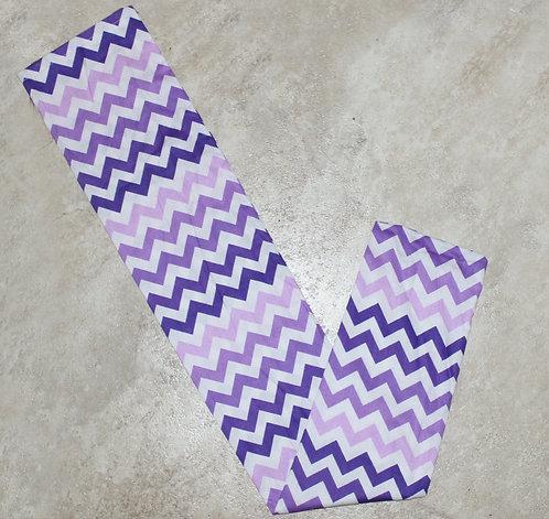 Purple Chevron Tail Bag