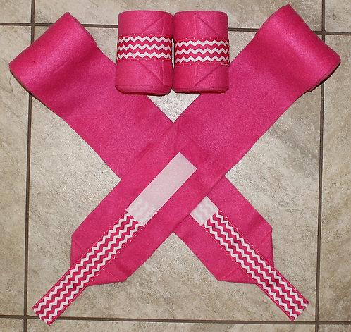 Pink Chevron Polo Wraps