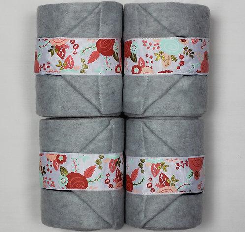 Light Grey Paisley Polo Wraps