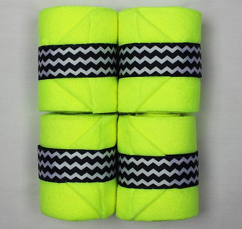 Neon Yellow Chevron Polo Wraps