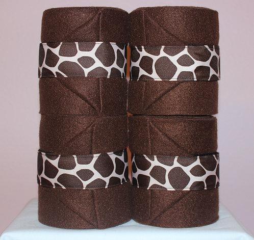 Brown Giraffe Polo Wraps