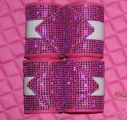 Pink Bling Polo Wraps