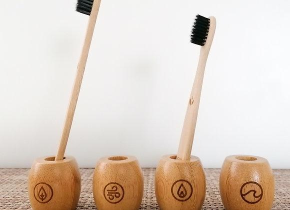 Porte brosse à dent en bambou