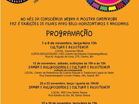 Mostra CineAfroBH no sábado, 12 no parque Lagoa do Nado