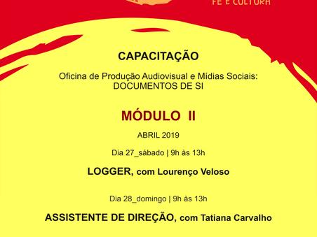 Final de semana tem Oficina de Produção audiovisual e Mídias Sociais - Módulo II