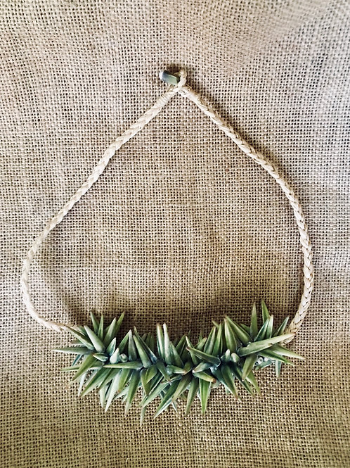 SEA URCHIN & RAFFIA BRAIDED NECKLACE