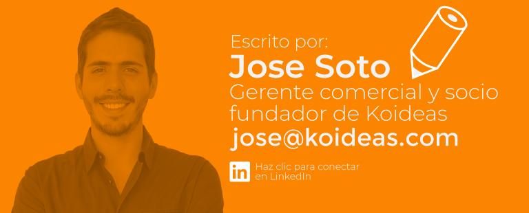 Jose Soto Gerente comercial Koideas