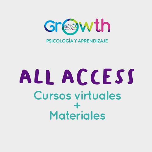 All Access a todos los cursos virtuales + Materiales
