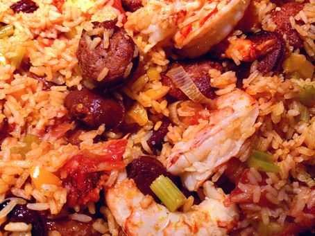 Spanish Chorizo and Shrimp Paella