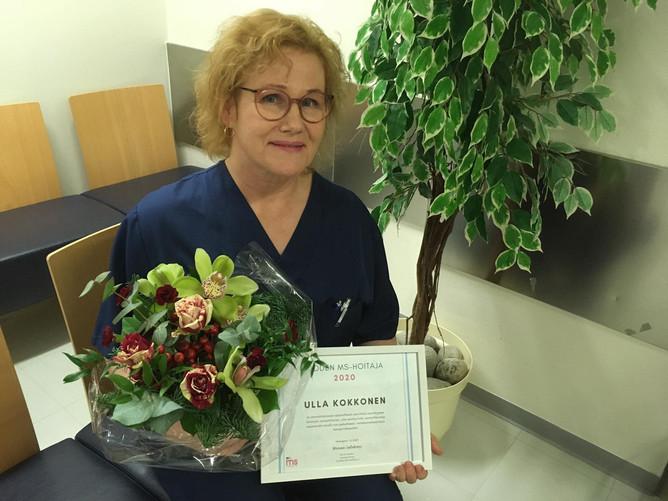 Ulla Kokkonen on vuoden MS-hoitaja