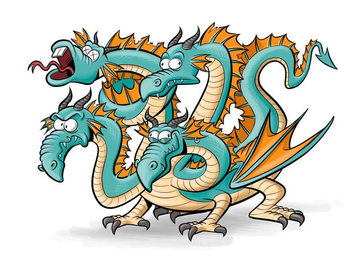 Vierkoppige draak