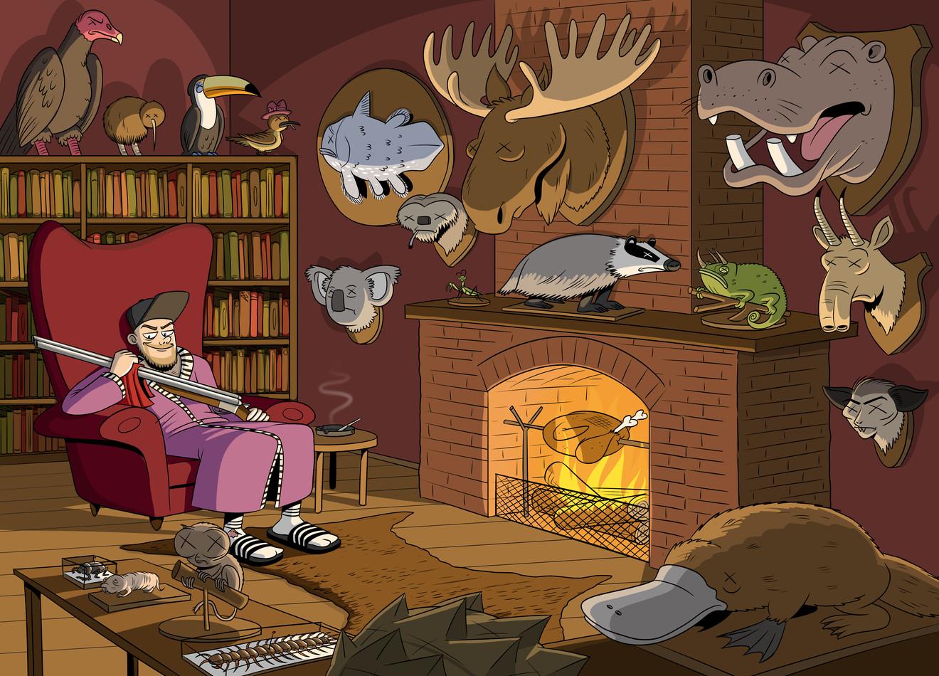 Illustraties voor ''Kutbeesten''