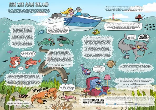 Illustratie voor Rijke Waddenzee