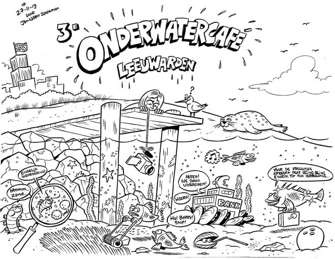Live Illustratie Onderwatercafé Leeuwarden