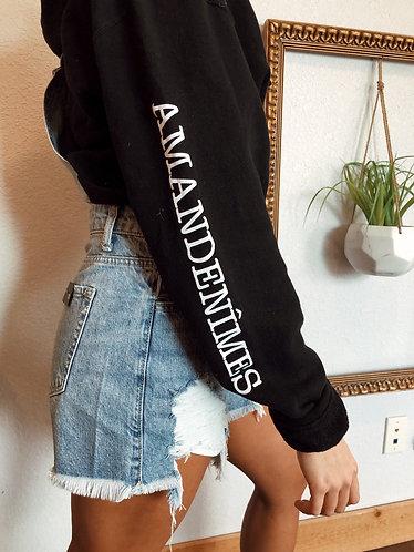 Cropped Oversized Amandenimes Hoodie