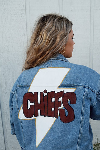 Chiefs Jacket- lightning bolt