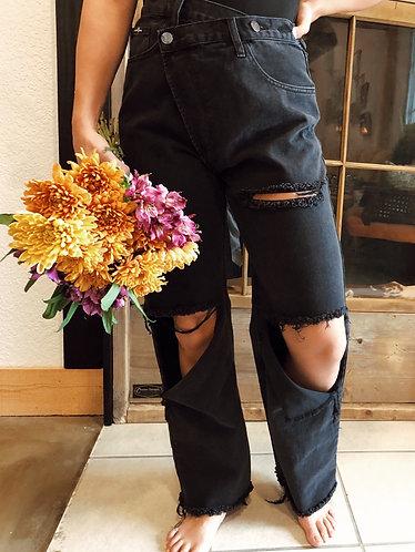 The Asymmetrical Ripped Jean