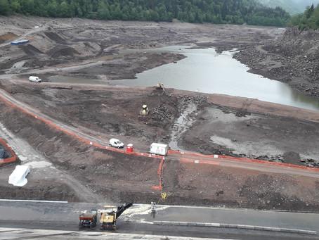 Poursuite du chantier de réfection du barrage de Kruth