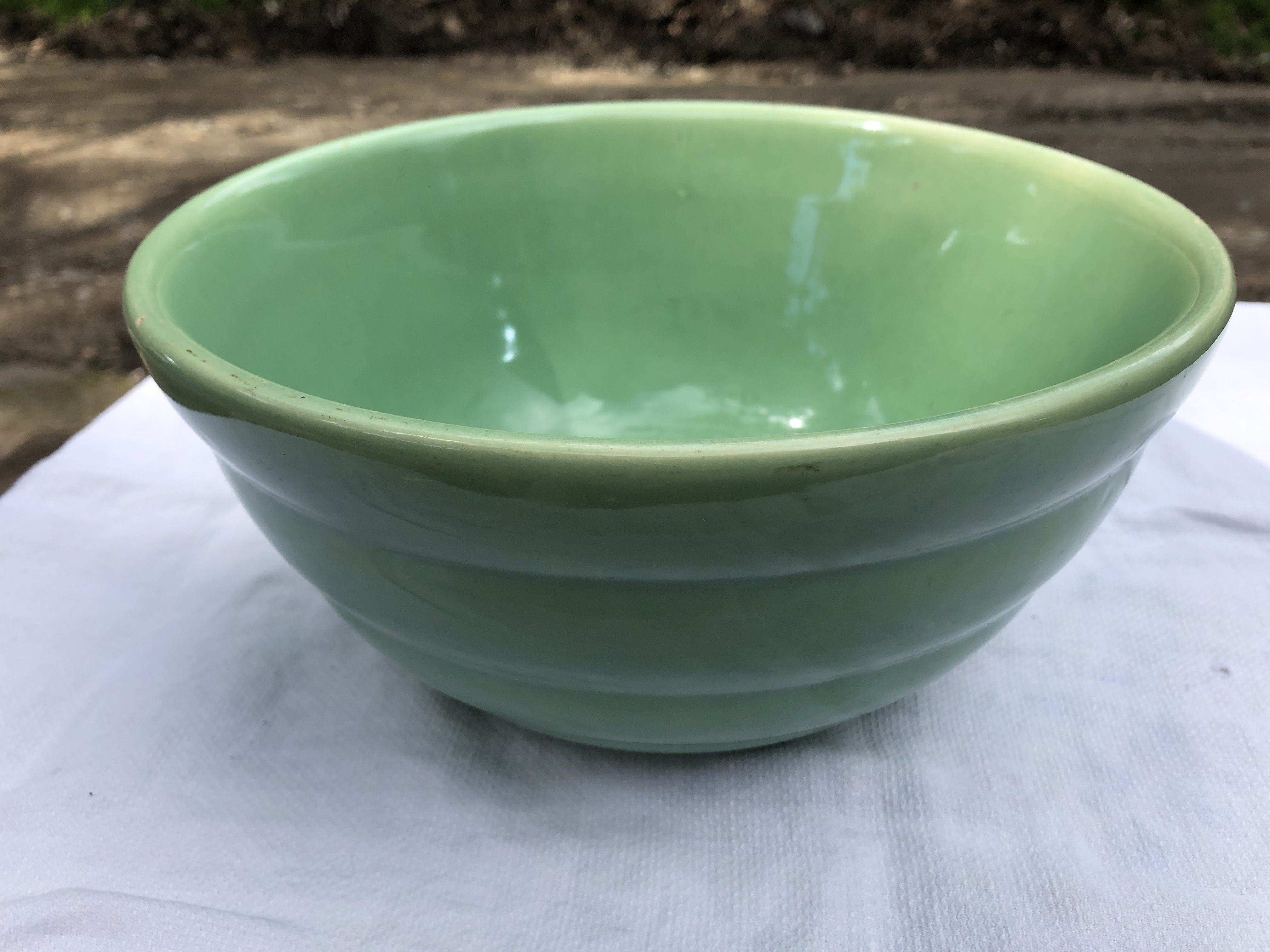 Vintage Green Bauer Bowl