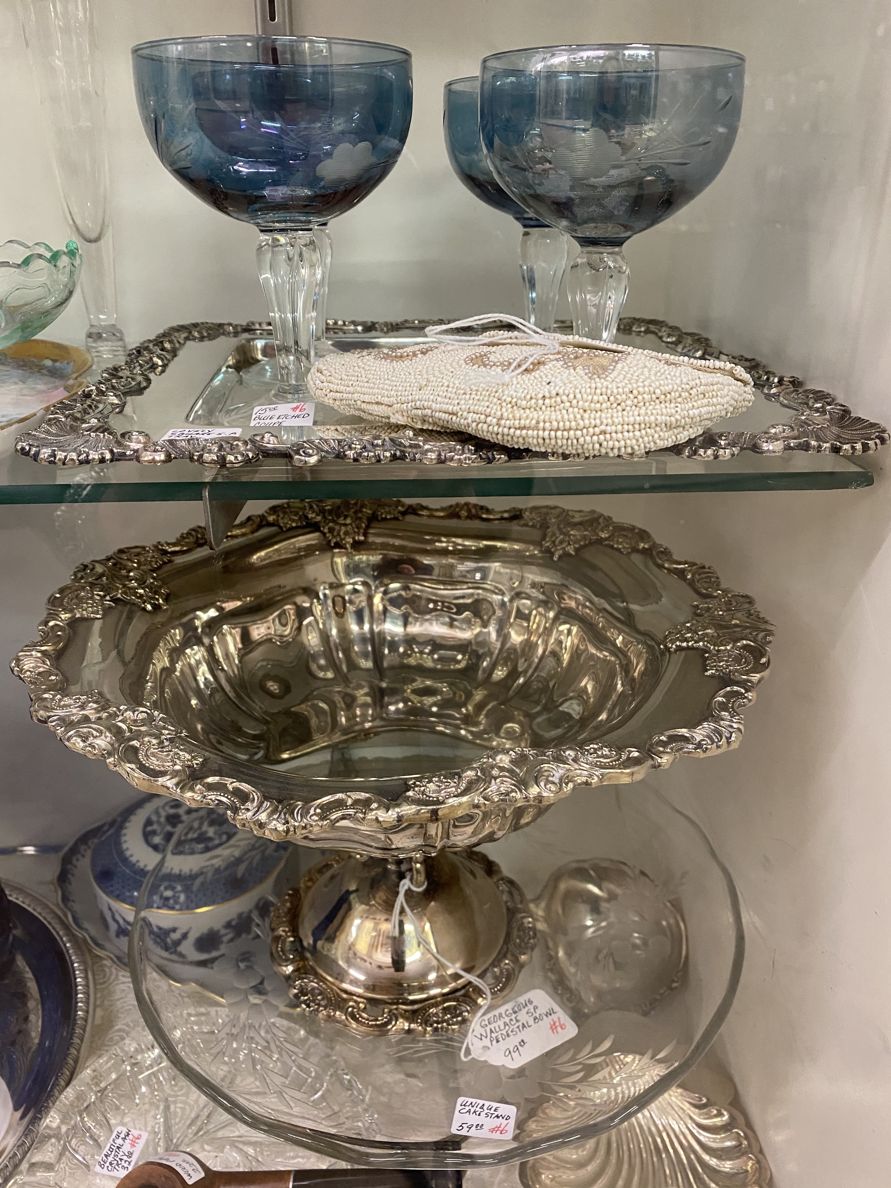 Silver-Plate/Crystal