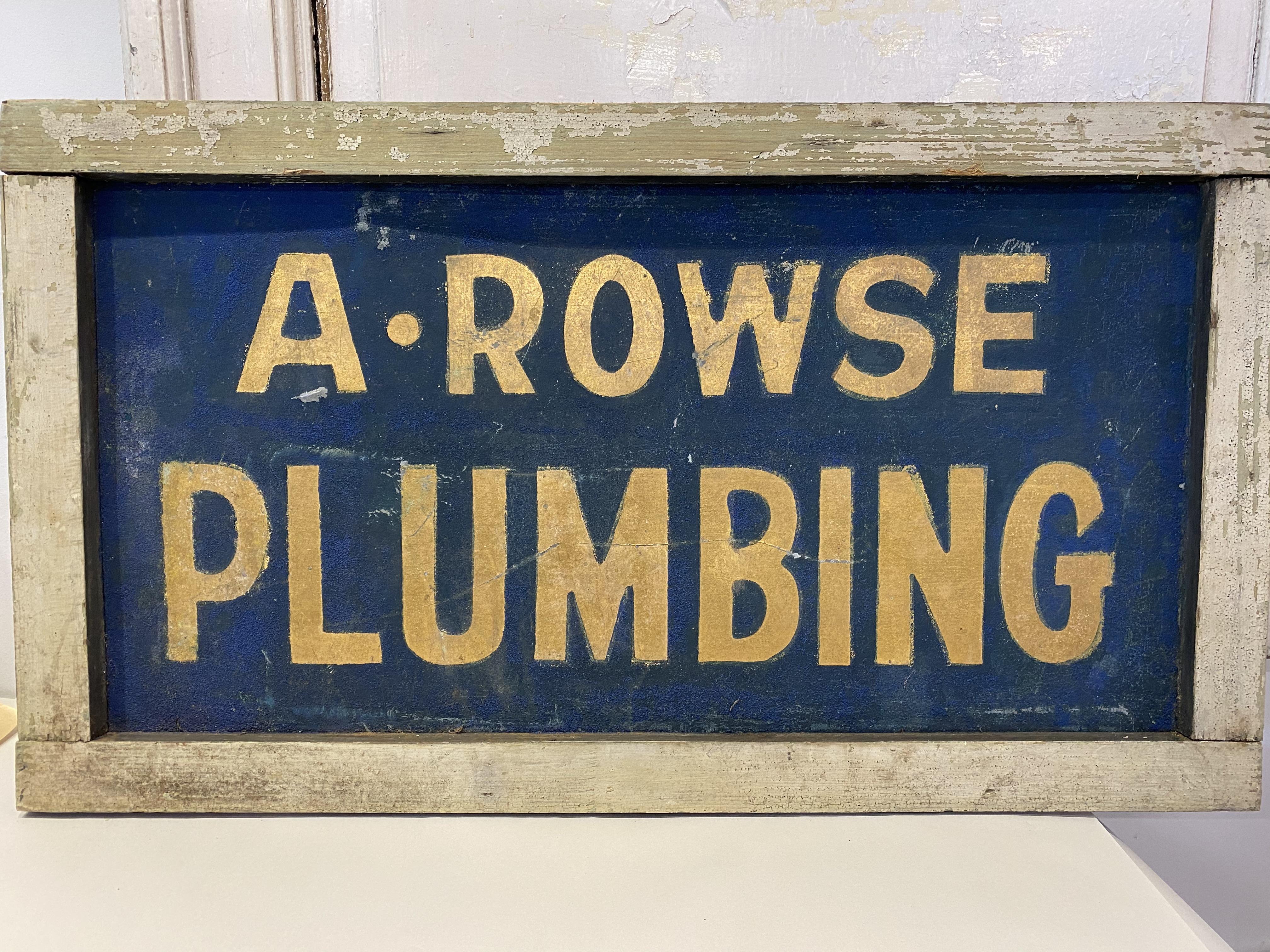 Vintage Wood Plumbing Sign