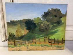 1940's Oil on Canvas, Signed Landscape