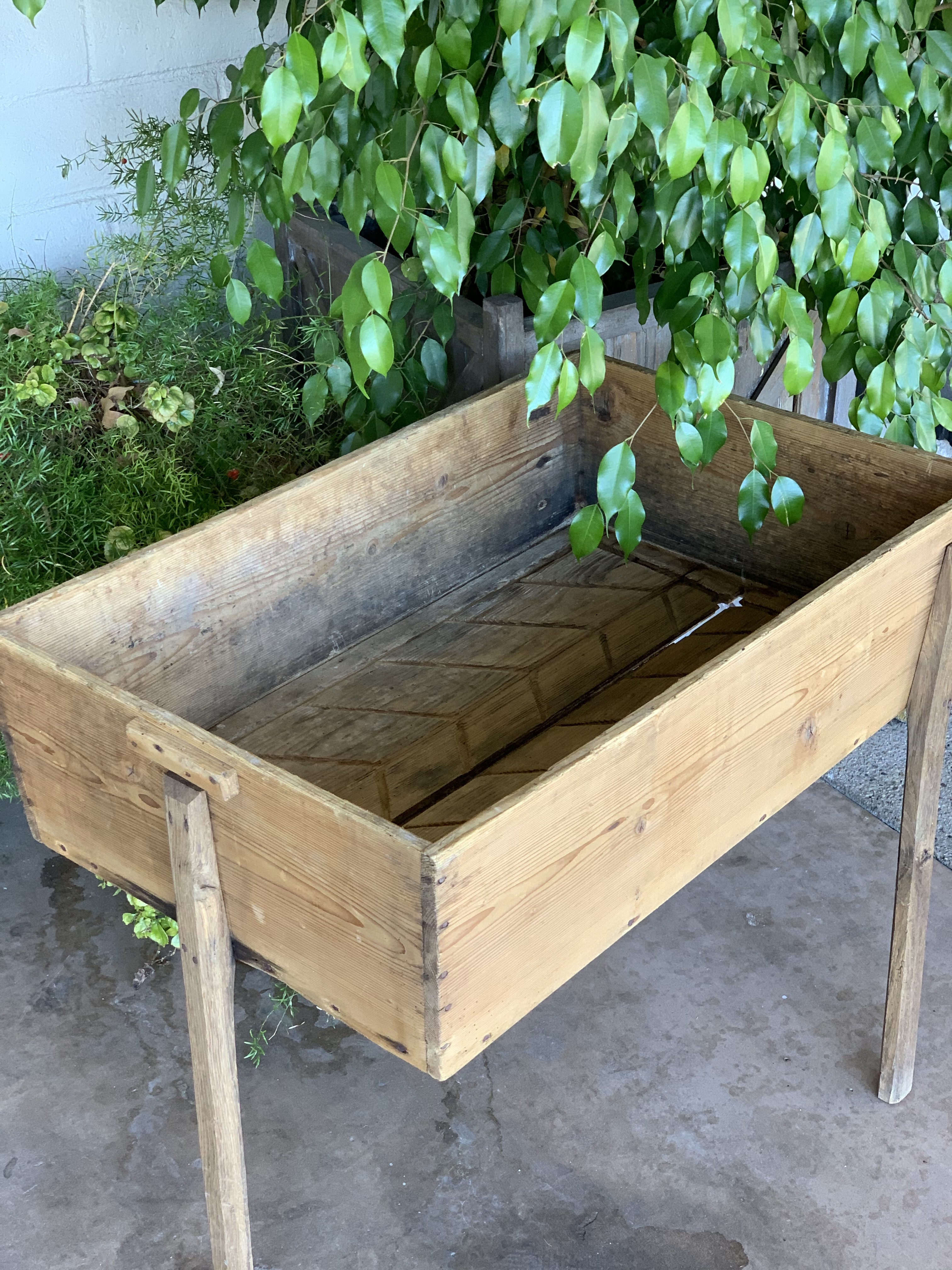 Vintage Pine Laundry Table