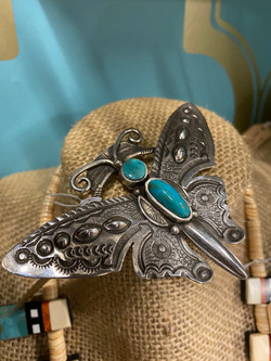 Sterling/Turquoise Pin
