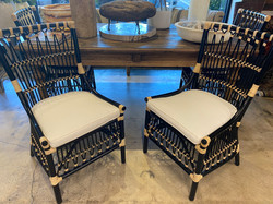 4 Rattan Dining Chairs