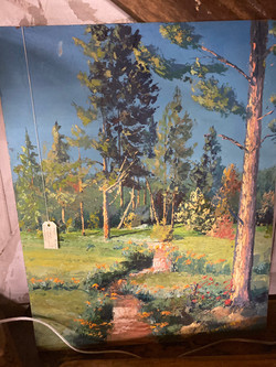 Forest/Poppies Painting