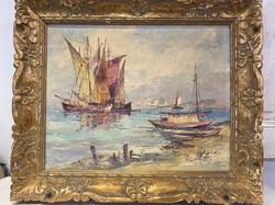 "Oil on canvas ""Seascape"""