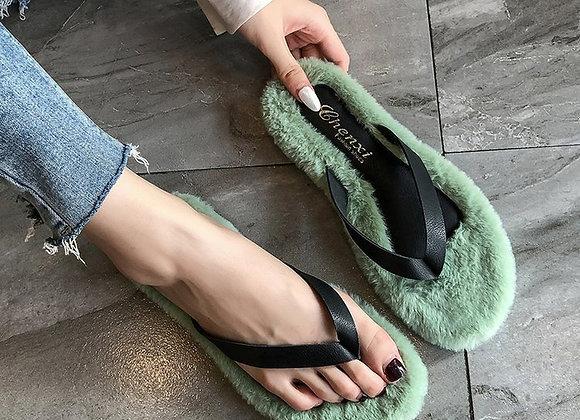 Fur Flip Flop