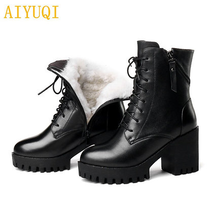 Leather Women Boot