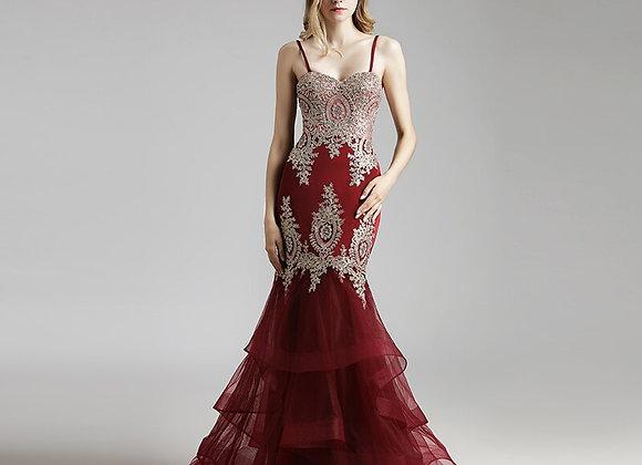 Mermaid Burgundy Celebrity Dress