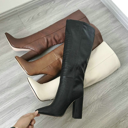 Block High Heel Boot