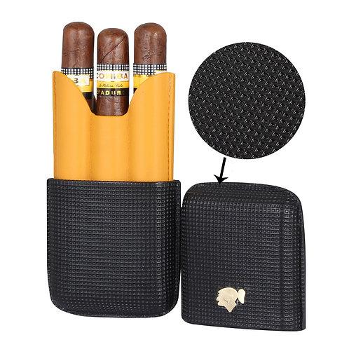 Portable 3 Tubes Mini Cigar Humidor Box