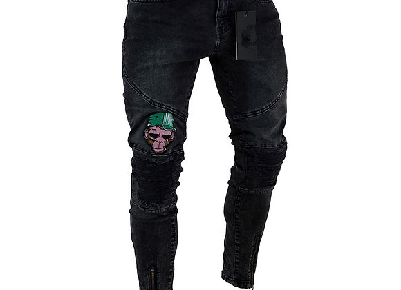 Distressed Destroyed Badge Pant