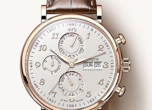 Sapphire Leather Relogio Watch