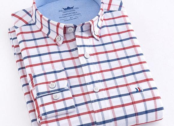 Cotton Plaid Striped Shirts