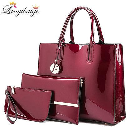 Women Handbags High Quality  Bag+Clutch