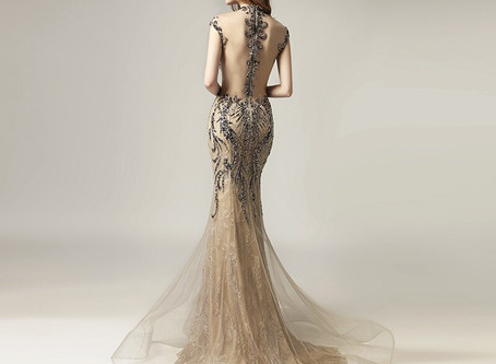 Mermaid Tulle Dress| Beaded Prom Dress