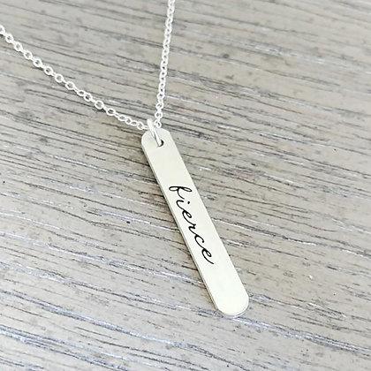 Fierce Vertical Bar Necklace