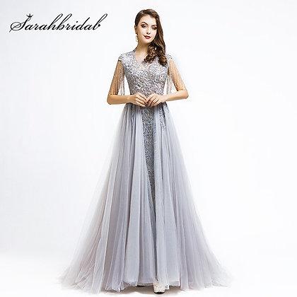 High Neck Celebrity-Inspired Dress