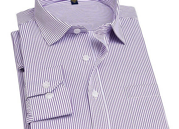 Pinstriped/Twill/Broadcloth Male Shirt