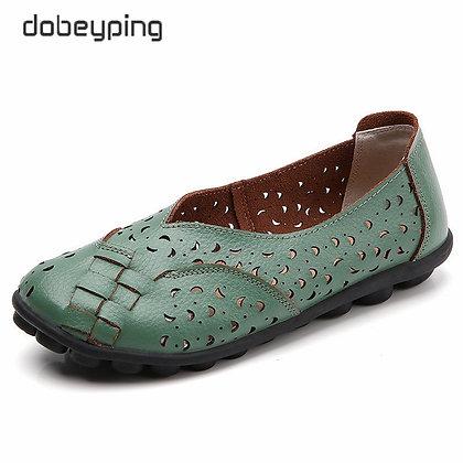 Genuine Leather Soft Woman Shoe