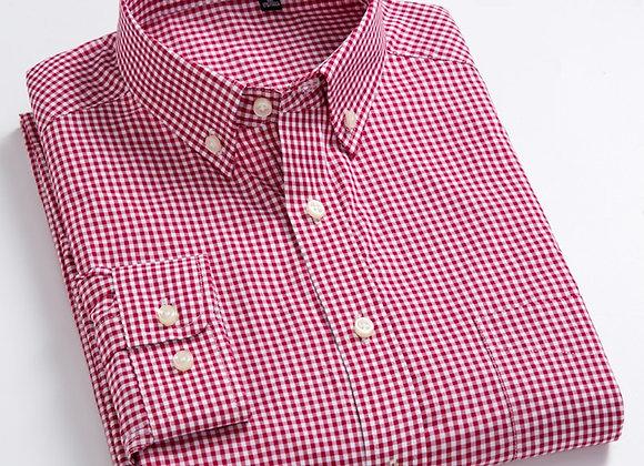 Checked Plaid Casual Shirt