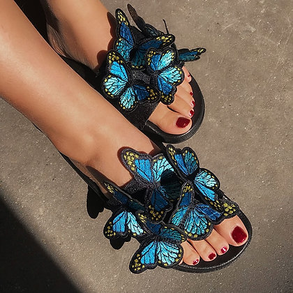 Women Sandals Beach Butterfly