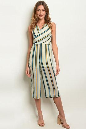 Womens Stripes Jumpsuit